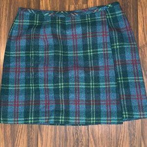 Eddie Bauer wrap plaid skirt